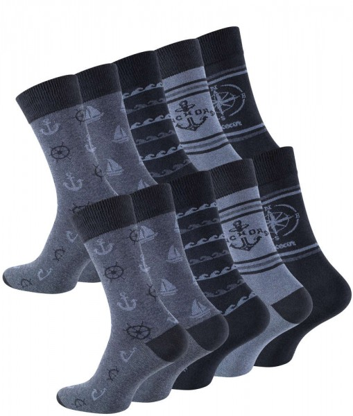 "10 Paar Baumwoll-Socken ""MARITIM"""