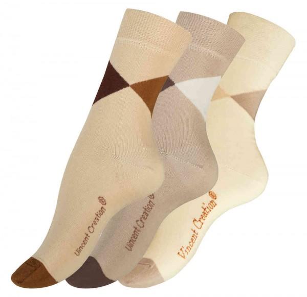 "3 Pairs of LADIES Cotton Socks ""TRIANGLE"""