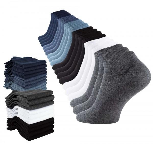 20 Pairs of men`s cotton sneaker socks, ankle socks