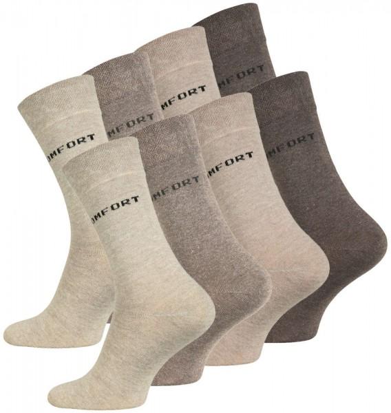 8 Paar Socken COMFORT, ohne Gummibund