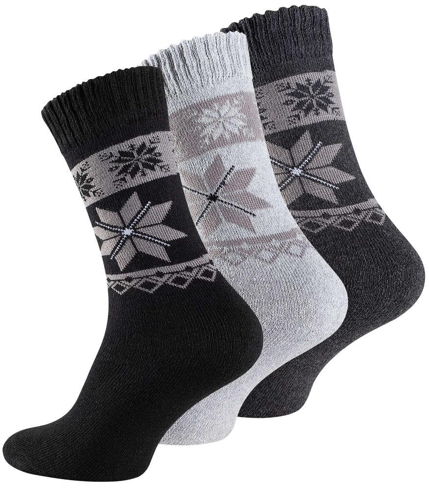 9 Paar Herren Frottee-Socken mit Eiskristallmuster