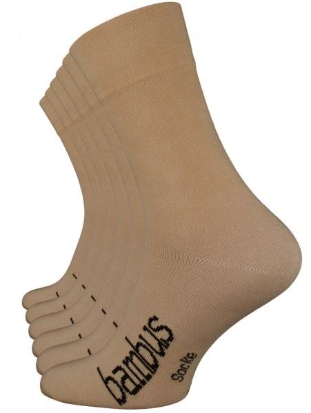 6 Paar BAMBUS Socken, Handgekettelte Spitze