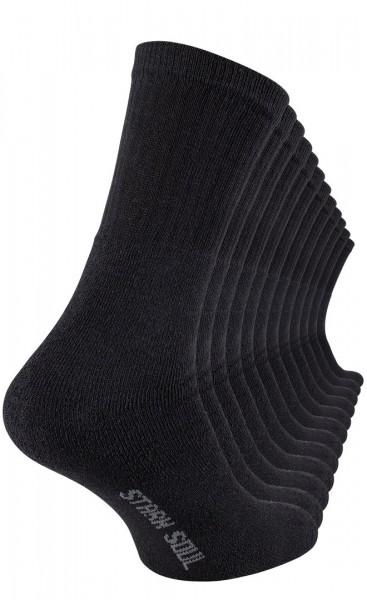 12 Paar Tennissocken in schwarz, weiss, grau