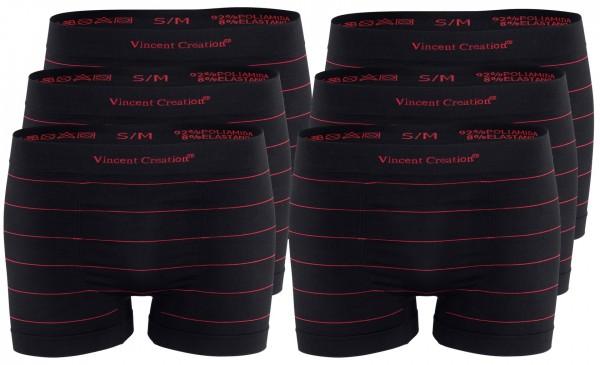 6er Pack Seamless Nadelstreifen Boxershorts