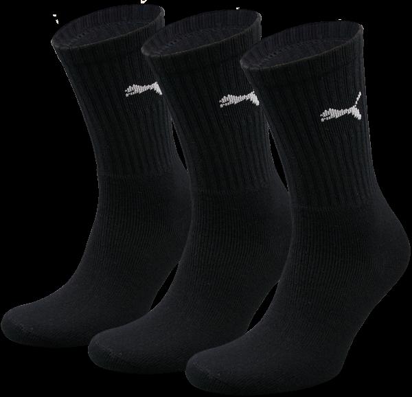 3 pairs of original Puma Sport Socks, black
