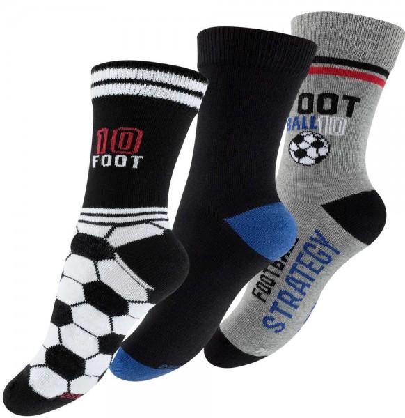 "6 pairs of Boy socks ""Football"""