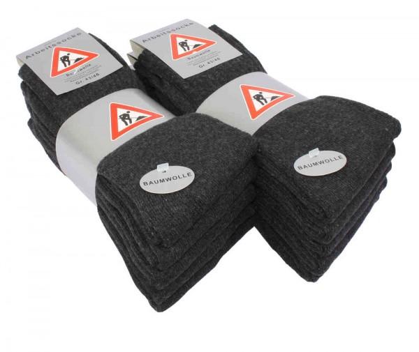 10 Paar STABILE Baumwoll Socken - Berufssocken