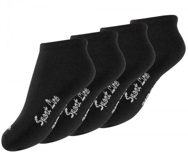8 Paar Kinder Sneaker Socken -Sport Line- in Schwarz