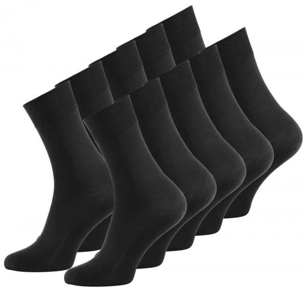 10 Paar Herren Business Socken, schwarz Uni