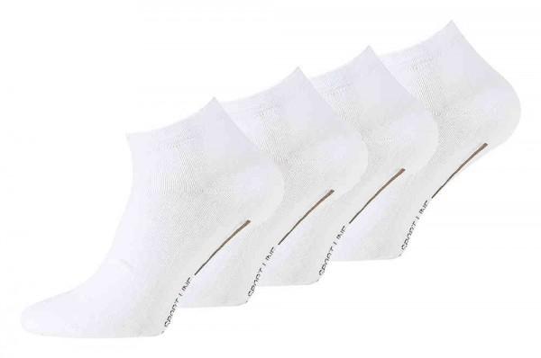 8 Pair Men Sneaker Socks white, SPORT LINE, Cotton