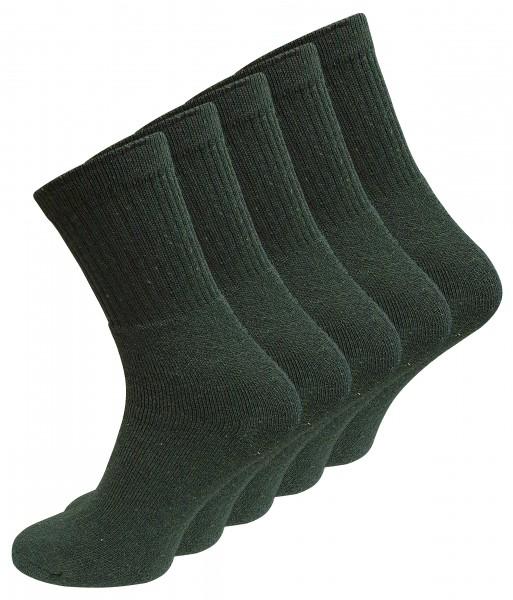 10 Paar ARMY und JÄGER Socken, dunkelgrün