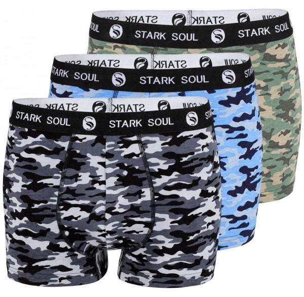3'er Pack Boxershorts Camouflage