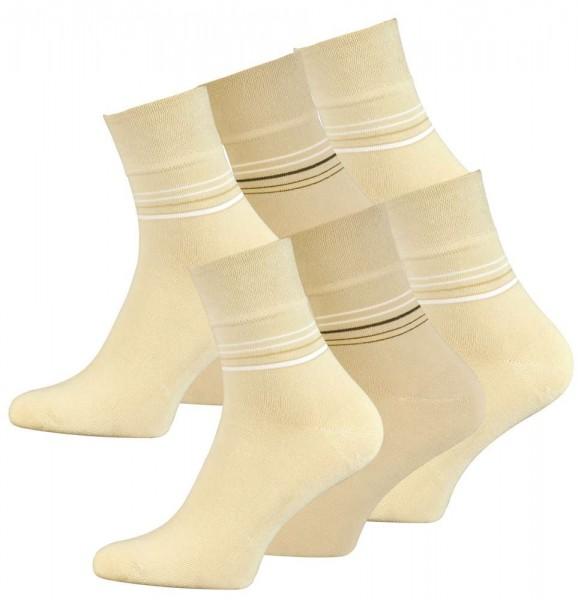 6 Pair Mens Cotton Quarter Socks, seamless toes