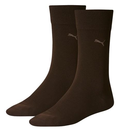 2 Paar original Puma Casual - Herren Socken, dunkelbraun