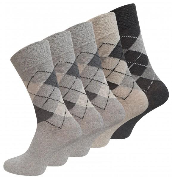 10 Paar Socken mit KARO Muster, Baumwolle