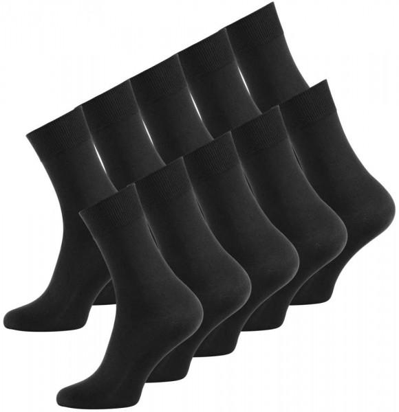 10 Pack men's plain cotton socks, black
