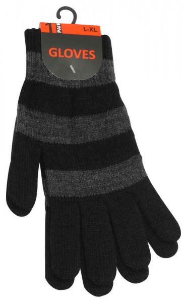 Strick Handschuhe mit dezenten Blockstreifen