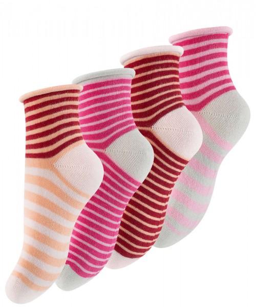 8 Paar Kinder Söckchen, Quarter Socken mit Rollrand