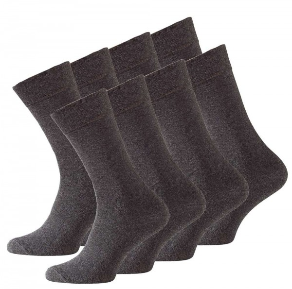 8 Pairs Men's Comfort Socks, Cotton Rich, without elastic cuff, anthrazit