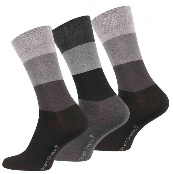 6 Paar Herren Socken -With Stripes-