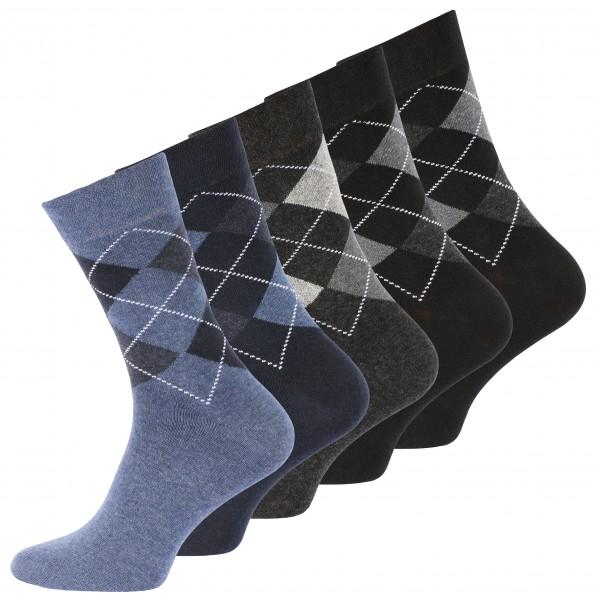 10 Paar Baumwoll Socken Karo Classics, ohne Gummibund