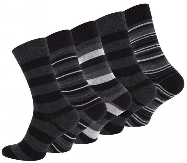 10 Paar Herren Casual Socken -STRIPES-
