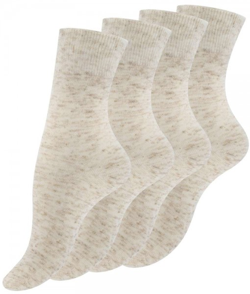 "8 Pairs Ladies Linen Socks ""NATURE"" with cotton"