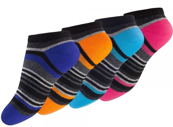 8 Paar Kinder Sneaker Socken mit Ringel