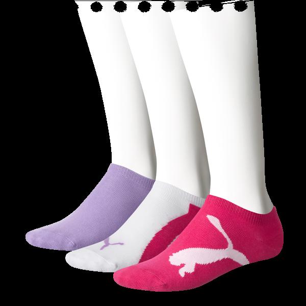 3 Paar Puma Kinder Sneaker-Socken, farbig