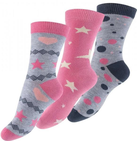 6 Paar Kinder Socken -Sterne & Punkte-