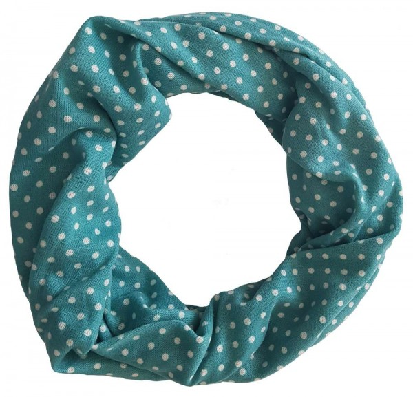 loop scarf with dots in beautiful colors