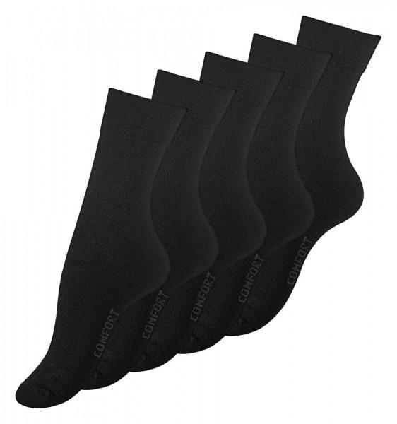10 Paar Damen Socken schwarz, ohne Gummibund