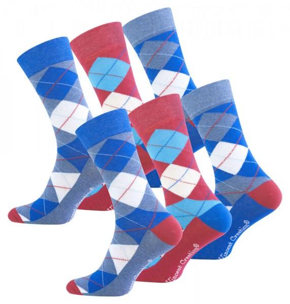 6 Paar Herren Trendy Casual Socken -ARGYLE-